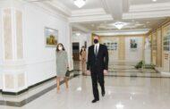 Prezident və xanımı Səttar Bəhlulzadə adına Mədəniyyət Evinin açılışında iştirak ediblər - FOTO