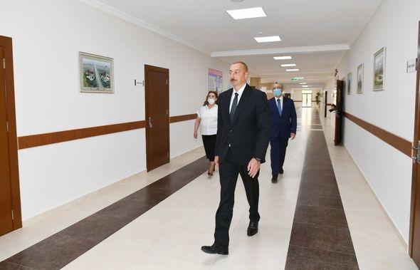 Prezident Bakıda 251 nömrəli məktəbin yeni korpusunun açılışında iştirak edib - FOTO