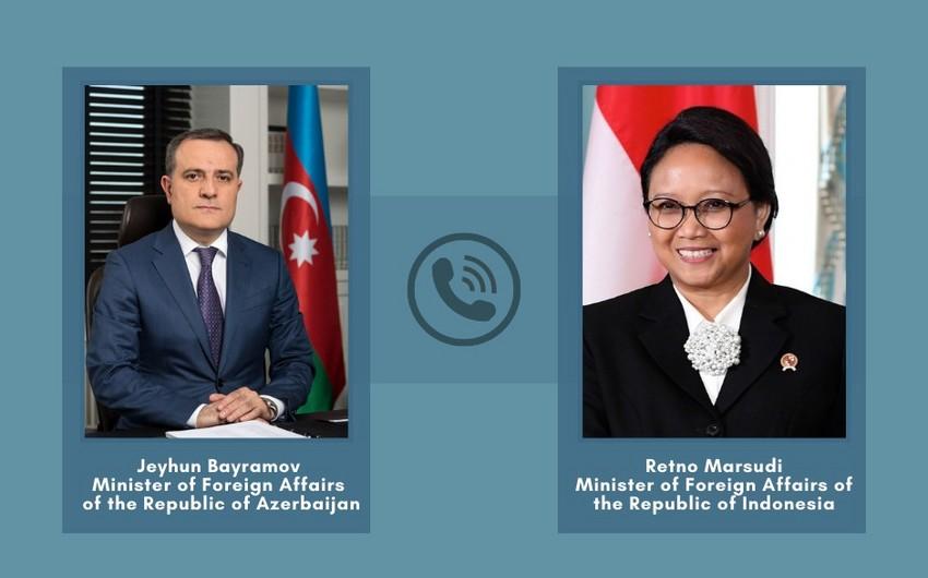 Azərbaycan və İndoneziya XİN başçıları arasında telefon danışığı olub