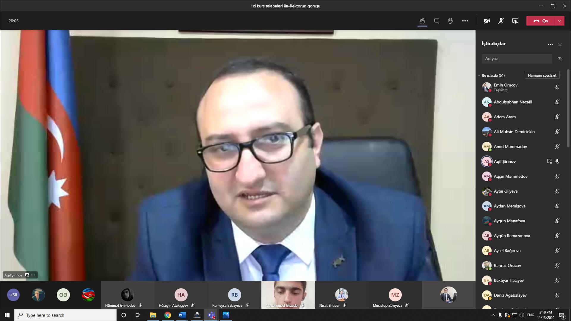 Azərbaycan İlahiyyat İnstitutunun rektoru birinci kurs tələbələri ilə görüşüb - FOTO