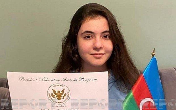 ABŞ-da azərbaycanlı şagird Trampın xüsusi mükafatına layiq görülüb - FOTO