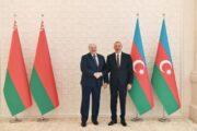 Azərbaycan və Belarus prezidentlərinin təkbətək görüşü başlayıb - FOTO