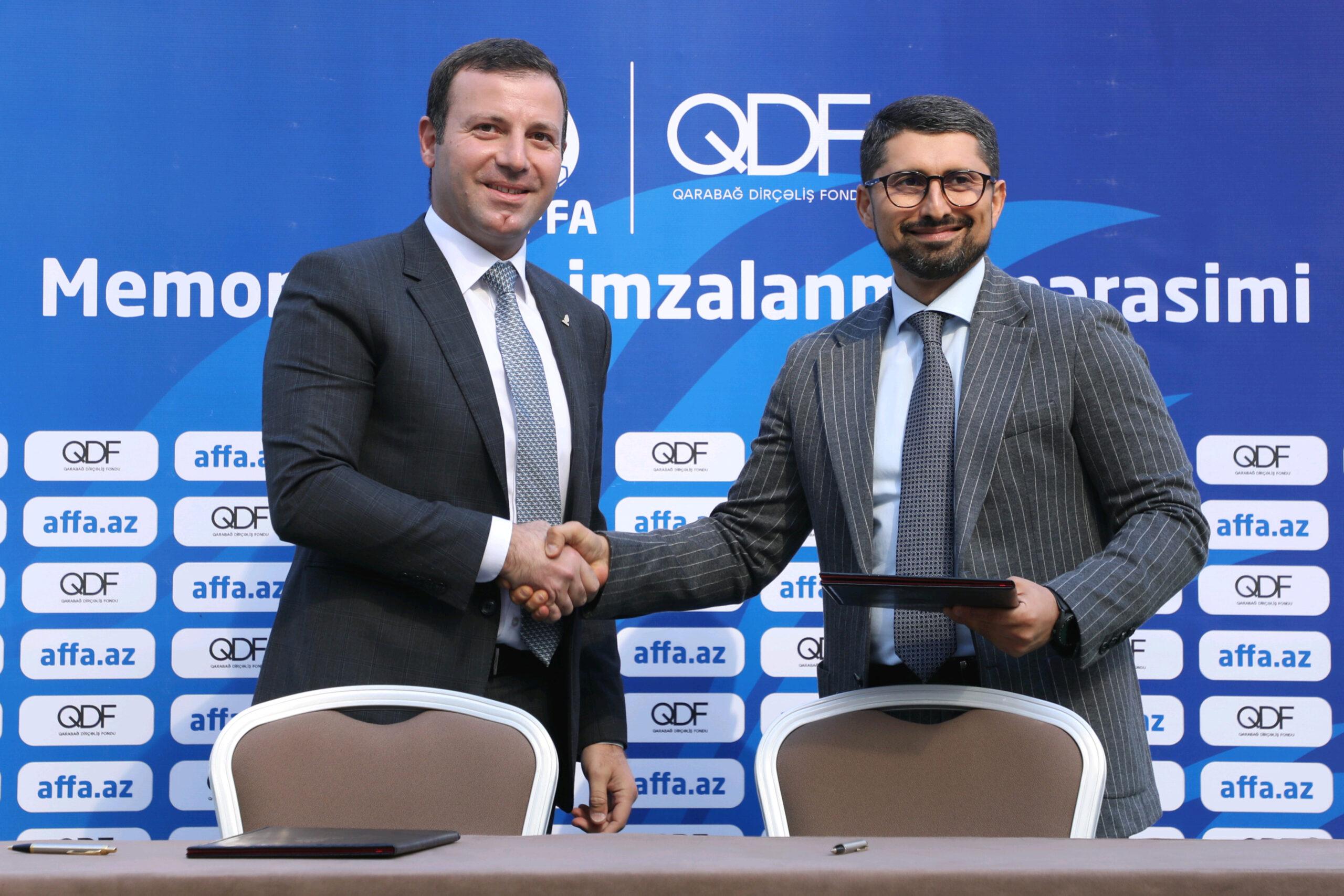 Qarabağ Dirçəliş Fondu və AFFA arasında Memorandum imzalanıb - FOTO
