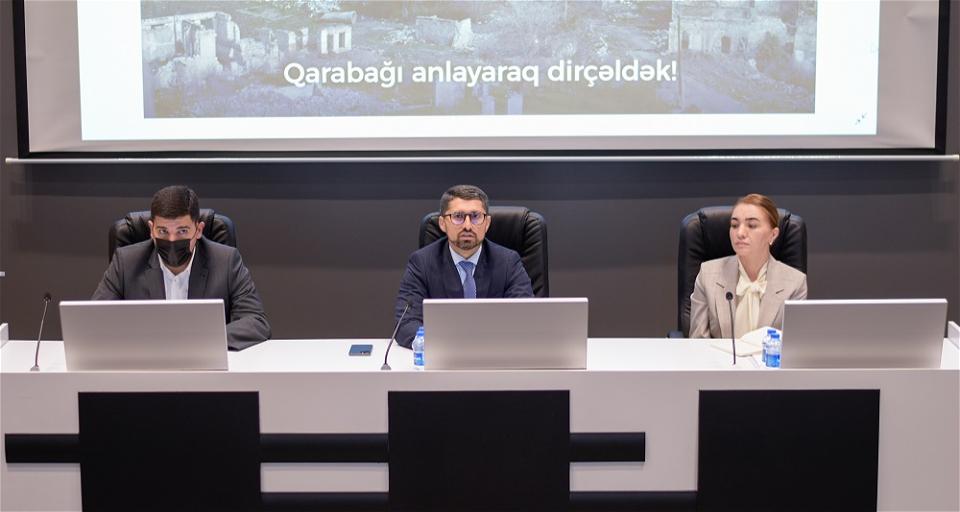 """Qarabağ Dirçəliş Fondu ilə gənclər arasında """"Qarabağı anlayaraq dirçəldək!"""" mövzusunda görüş keçirilib - FOTO"""