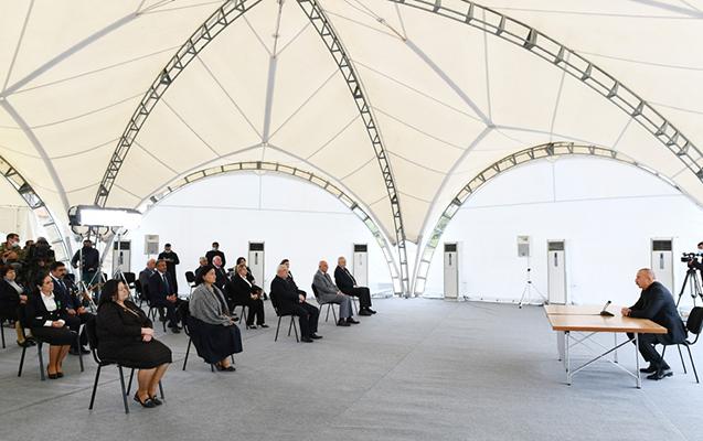 Prezident Xocavənddə ictimaiyyət nümayəndələri ilə görüşdü - Foto