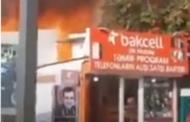 Dünənki yanğından təkcə Polad Həşimovun şəklini çıxartdı - Video